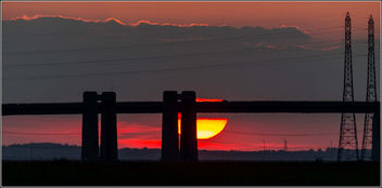 The Old Sheppy Bridge at Sunset - Free image #306811