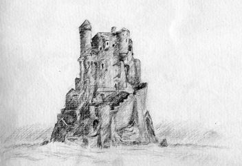 Castle drawing - Free image #307811