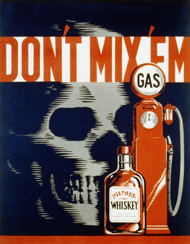 Don't Mix and Drive, WPA poster ca. 1937 - Free image #309211