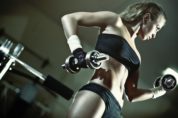Young woman weight training - Free image #309351