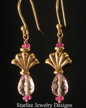 Starlite Jewelry Designs - Briolette Earrings - Pastel Fashion - Jewelry Design - image #314071 gratis