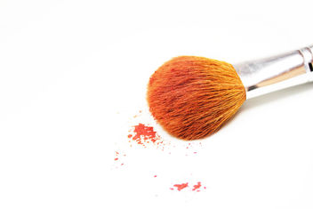 Makeup Brush on White Background - image gratuit #314781