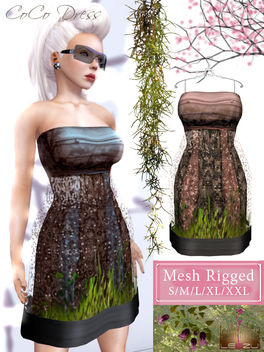 [LeeZu!] CoCo Mesh Dress - image gratuit #315201