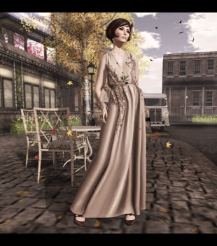 C88 August- ISON - dazzle gown, [monso] My Hair - Daisy, Ingenue :: Pickford Heels :: Coffee, LaGyo_Helen long necklace Gold & -Glam Affair - Katya - Europa 05 F - image #315781 gratis