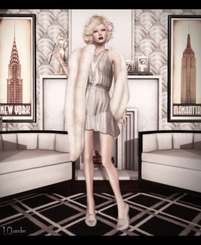 C88 August - Baiastice_Claudette dress & Mink Princess Stole - Champagne - Free image #315791