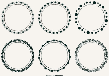 Cute Decorative Frames Set - Free vector #317471