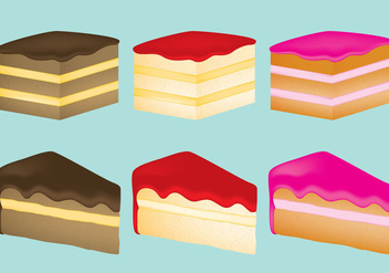 Cake Slices - vector gratuit #317491