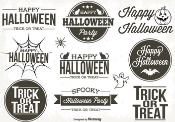 Typographic Halloween Labels - vector #317511 gratis