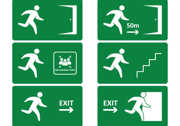 Emergency Exit Sign - vector gratuit #317521