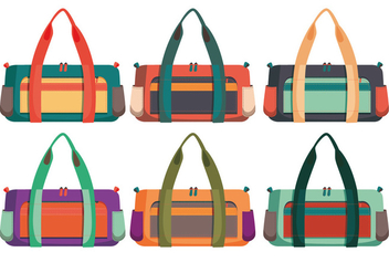 Duffle bag vectors - бесплатный vector #317561