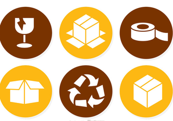 Packaging Circle Icons - Free vector #317621