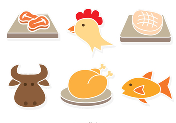 Kind Of Meat Vector - Free vector #317631