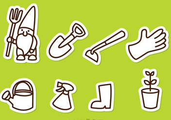 Gardening Outline Icons - vector #317641 gratis