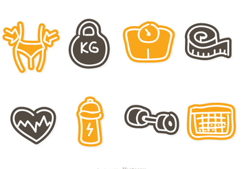 Diet Doddle Icons - vector #317661 gratis