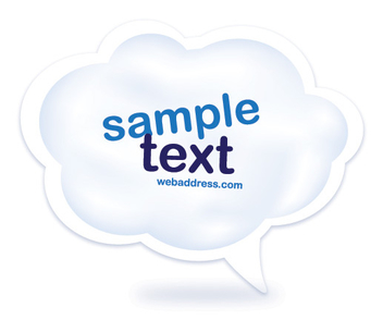 Abstract Cloud Message Bubble - vector gratuit #317721
