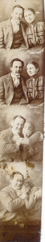 Photo booth couple break into laughter - image gratuit #318121