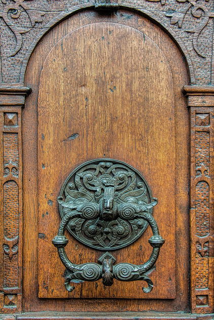 Antique wooden door - Free image #321231
