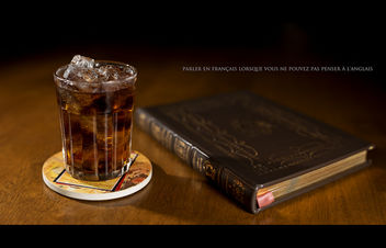 A Quick Drink and a Little Reading - image #326351 gratis