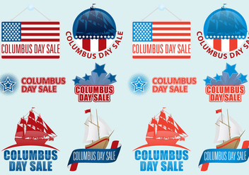 Columbus Day Sale Vectors - vector gratuit #326601
