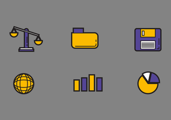 Free Law Office Vector Icons #1 - бесплатный vector #326611