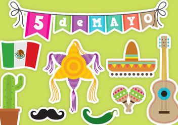 Cinco De Mayo Vector Icons - бесплатный vector #326641
