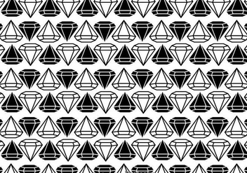 Black And White Diamonds Pattern - Free vector #326681
