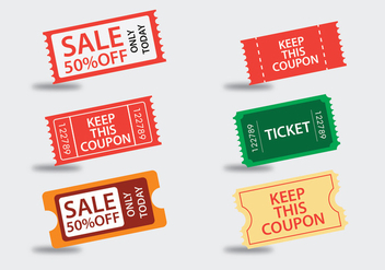Entertainment Ticket Vectors - vector gratuit #326731