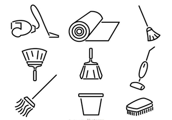 Home Cleaning Vector Icons - vector gratuit #326821