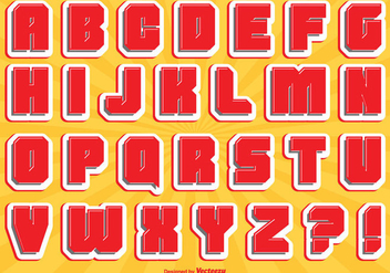 Comic Style Alphabet Set - Free vector #327011