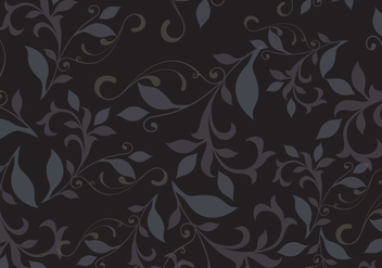 Dark floral pattern background vector - vector gratuit #327021