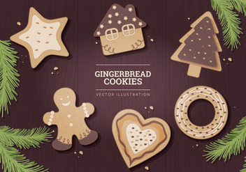 Gingerbread Vector Illustration - vector gratuit #327031
