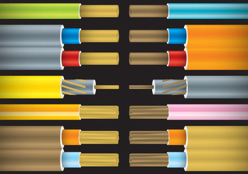 Colorful Bare Cables - Free vector #327051