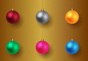 Free Christmas Baubles Vector - бесплатный vector #327081
