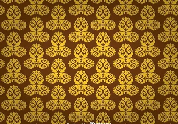 Gold Ornament Wall Tapestry - Free vector #327131
