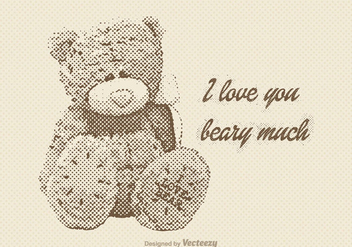 Free Vector Vintage Teddy Bear - Free vector #327431