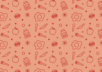 Free School Lunch Vector Pattern #1 - бесплатный vector #327461