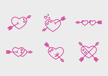 Free Heart Vector Icons #2 - бесплатный vector #327491