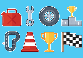 Pit Stop Icons - Free vector #327581