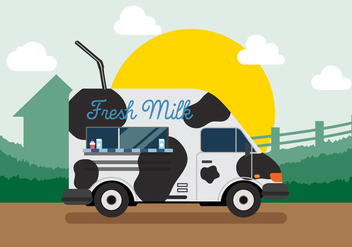 Vector Fresh Milk - vector gratuit #327631