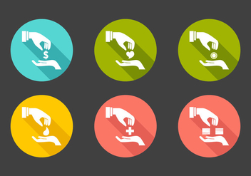 Vector Donation Icon Set - Free vector #327651
