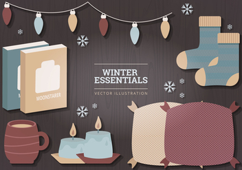 Winter Essentials Vector Illustration - Kostenloses vector #327701