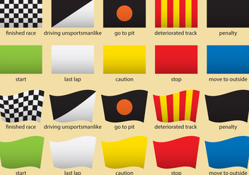 F1 Racing Flags - vector gratuit #327991