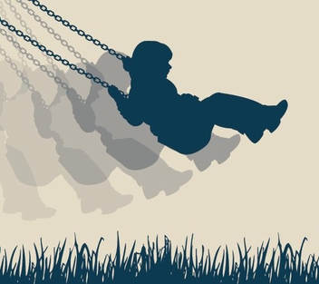 Swinging Girl Silhouette Background - vector #328011 gratis