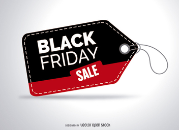 Black friday sale tag - Free vector #328031