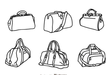 Vector Bag Isolated Icons - Free vector #328211