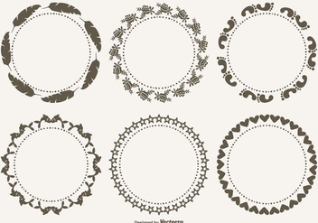 Cute Decorative Frames Set - Free vector #328301