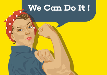 Vector Poster We Can Do It - бесплатный vector #328701