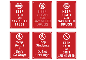 No Drugs Poster Vector - Free vector #328711