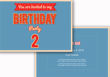 Birthday Invite Vector - vector gratuit #328721