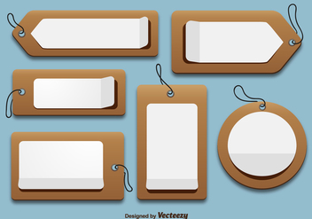 Cardboard price tags - vector gratuit #328791